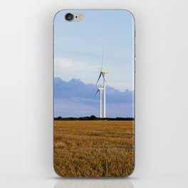 Evening sky and rural Wind turbines. Norfolk, UK. iPhone Skin