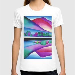 Lake George Reflection landscape painting by Georgia O'Keeffe T-shirt