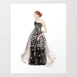 Daisy Tulle Gown Art Print
