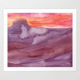 Mar de Lava Art Print