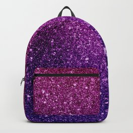 Pretty Sparkly Pink & Purple Glitter Gradient Backpack