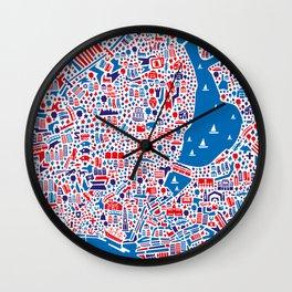 Hamburg City Map Poster Wall Clock