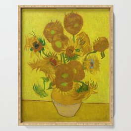 Sunflowers by Vincent van Gogh (1888) Serving Tray