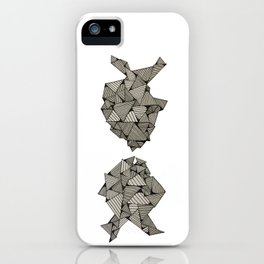 kissing fish iPhone Case
