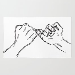Do you pinky promise? Rug