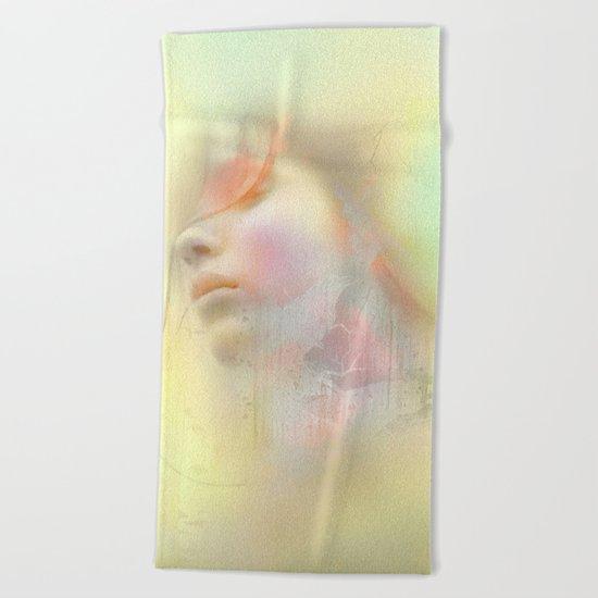 Girl of May Beach Towel