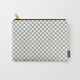 Desert Sage Grey Green and White Check Carry-All Pouch