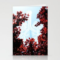 lungs Stationery Cards featuring Lungs by Keka Delso