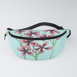Cherry Blossoms on Blue Fanny Pack