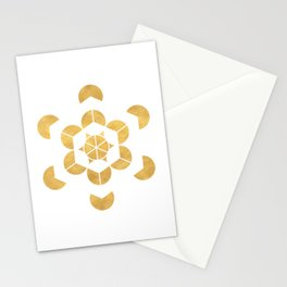 HEXAHEDRON CUBE sacred geometry Stationery Cards