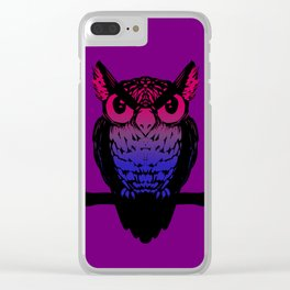 Bi Owl Clear iPhone Case