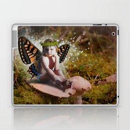 Mossy Mushroom Fairy Laptop & iPad Skin