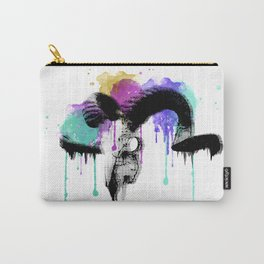 watercolor ram skull Carry-All Pouch