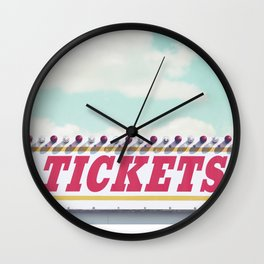 Carnival Ticket Booth Wall Clock