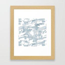 Chambray camo Framed Art Print