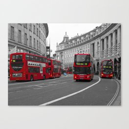 Red London Buses Canvas Print