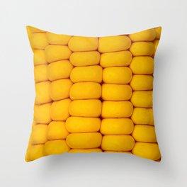 Yellow corn pattern Throw Pillow
