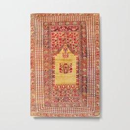 Ghiordes West Anatolian Niche Carpet Print Metal Print