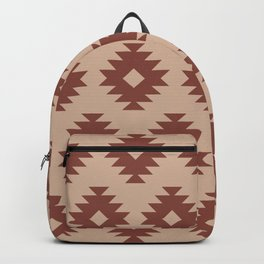 Southwestern Pattern 437 Brown and Tan Backpack