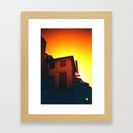 Valencia sunset Framed Art Print