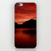 norway iPhone & iPod Skins featuring Sunset Norway by Christine baessler