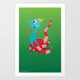 Sal the Sea Horse. Art Print