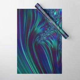 CRASH vivid jewel tones of sapphire blue & emerald green Wrapping Paper