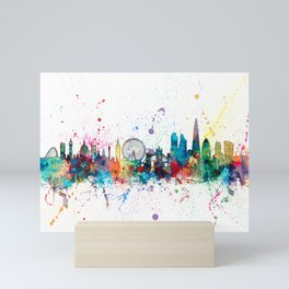 London England Skyline Mini Art Print