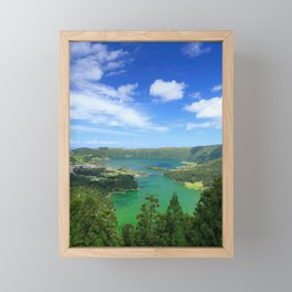 Lakes in Azores Framed Mini Art Print