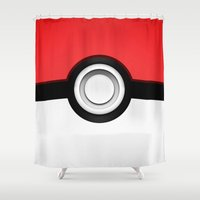 pokeball Shower Curtains featuring POKEBALL by Smart Friend