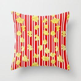 Popcorn Print Throw Pillow