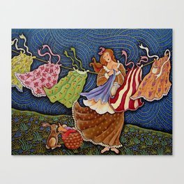 Washer Woman Canvas Print