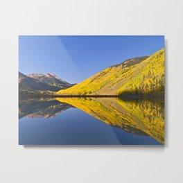 Mirror Reflections at Crystal lake Metal Print