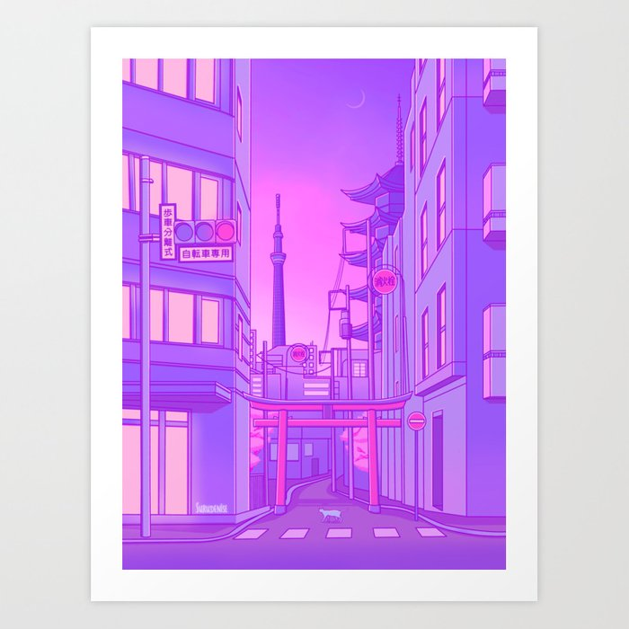 Asakusa Lights Kunstdrucke