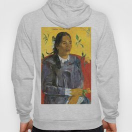Tahitian Woman with a Flower by Paul Gauguin Hoody