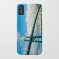 marc johns iPhone & iPod Cases featuring St. Johns Bridge by Kai Hayashi Photography
