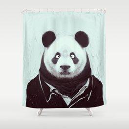 Panda googly eyes Shower Curtain