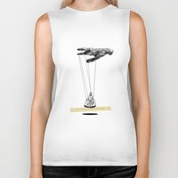 magritte Biker Tanks featuring Magritte meets Hockney by Laura San Roman