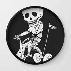 Death Kid Bone Ride Wall Clock
