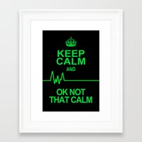 keep calm Framed Art Prints featuring Keep Calm by Alice Gosling