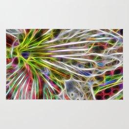 abstract glowing amaryllis hippeastrum Rug