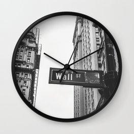 Wall street bw Wall Clock
