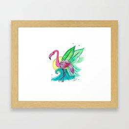 Flamingo Summer Vibes Framed Art Print