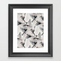 Sparrow Flight - monochrome Framed Art Print