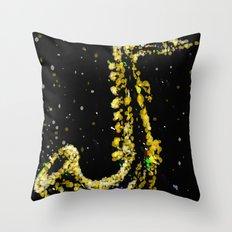 space sax Throw Pillow