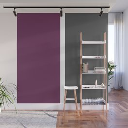 Burgundy, gray and white color-block Wall Mural