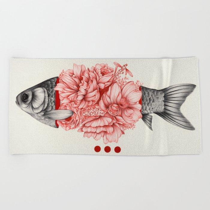 To Bloom Not Bleed III Beach Towel
