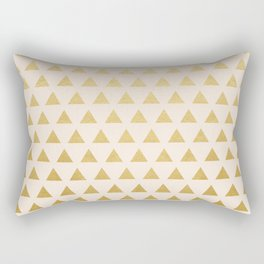 Blush + Gold Triangles #society6 #decor #buyart Rectangular Pillow