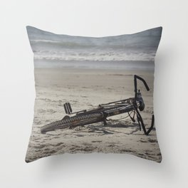 Lost Bicycle Throw Pillow