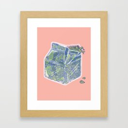 Plant Milk Framed Art Print